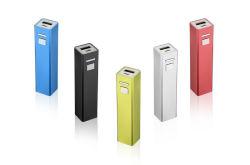 Don de petite taille de la Banque d'alimentation d'aluminium métallique portable 2600 mAh