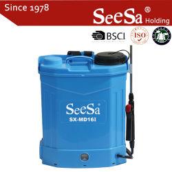 Spruzzatore agricolo di pressione della batteria elettrica dello zaino di sarchiatura dell'antiparassitario dei reattori poco costosi redditizi del fertilizzante della fabbrica (SX-MD16I)