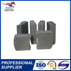 Material de revestimiento de cuchara de acero EAF MGO 80-95 fusiona ladrillo refractario de carbono de la magnesita