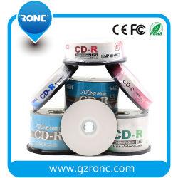 50HP Pack única camada 700MB 1-52X fábrica imprimível em branco CD-R
