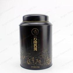 Пользовательские круглого цилиндра пищевой категории Silver для приготовления чая и металлического олова пустой кофе может