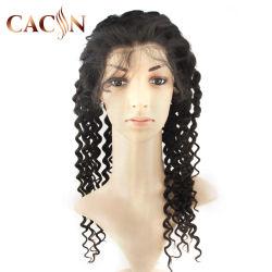 100% нового волос классический глубокую волны в полной мере кружева Wig