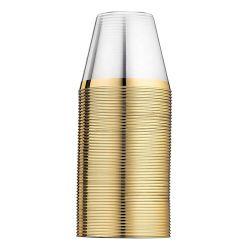 PS 플라스틱 컵에 의하여 주문을 받아서 만들어지는 로고 실크 스크린 인쇄 350ml 금 Wendding 훈장