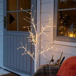 나무 빛 - 강화된 요점을 플러그를 꽂으십시오 - 실내 & 옥외 가정 점화 (박달나무, 4FT)를 바라는 축제 빛 겨울