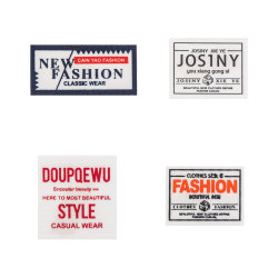 سعر المصنع أنماط متنوعة مخصصة منسوج ملصق قبعة / Garment / Bags / Toys