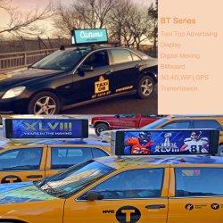3G, 4G, WiFi, GPS, llevado a firmar una o dos caras de la pantalla LED superior Taxi