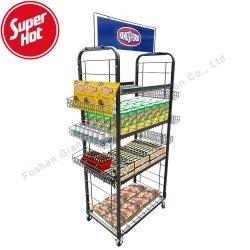 Commerce de gros bonbons Potato Chip biscuit chocolat d'affichage Store bar snack Stand