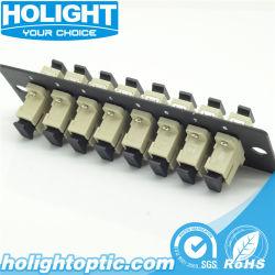 Adaptateur fibre channel sc mm adaptateur optique de la plaque de panneau