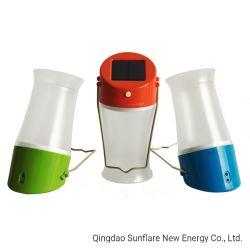 2020 에너지 절약 옥외 실내 사용 손잡이를 가진 태양 램프 손전등 LED 빛