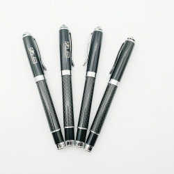 Penna di sfera diretta del metallo del regalo della penna del regalo della penna della firma della fibra del carbonio della fabbrica su ordinazione