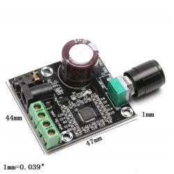 Mini XH-M120 PAM8610 بجهد 12 فولت مع 2×15 واط من الفئة D، طاقة مزدوجة رقمية لوحة مضخم الصوت