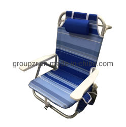 Sac à dos léger en aluminium Floding Beach Camping Président 5 positions avec refroidisseur Sac Pochette de rangement