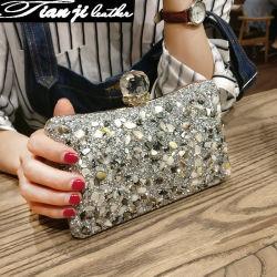2019 neue PU Diamante Handtaschen-Frauen-Dame-Beutel der Dame-Handbag Party Fashion Evening
