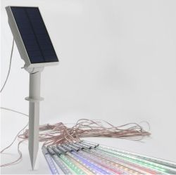Для использования вне помещений LED солнечной энергии Метеор душ датчика дождя и освещенности фары с волшебная для использования вне помещений Рождество сад