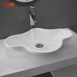 L'acrylique Surface solide lavabo haut de la vanité des puits de pierre
