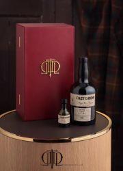Bois de luxe en cuir rouge Vin Whisky case de couleur