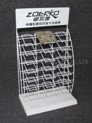 Revestimiento de polvo blanco pequeño de metal personalizados Display Stand para rack de cerámica