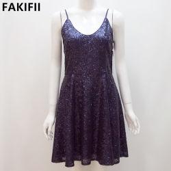 Commerce de gros OEM / ODM Backless sexy de V-Neck femmes robe de soirée Prom transversal