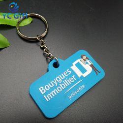 هدية مخصصة لحامل المفاتيح البلاستيكية البلاستيكية البلاستيكية ثنائي الأبعاد/ثلاثي الأبعاد المخصص لشركة الترويج المخصصة المفتاح الدائري الناعم لسلاسل مفاتيح تذكارية من PVC مع شعار التصميم (KC-P30)