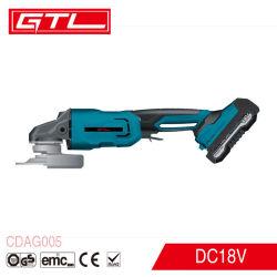 18V Li-ion rechargeable d'outils électriques sans fil de moteur sans balai meuleuse d'angle (CDAG005)