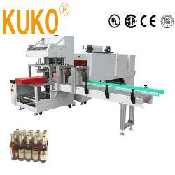 preço de fábrica Fully Automatic beber cerveja Mineral Água Latas de garrafas de aquecimento calor embalagem térmica Embalagem Pack encolher retrácteis de wrapper de Cintagem de máquinas de cintagem