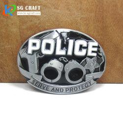 卸し売り安い価格のカスタムベルトの留め金3Dのアクセサリのホックの金属のベルトの留め金の頭骨のベルトの留め金の保安官のベルトの留め金