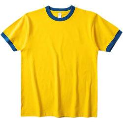 الحلبة الصفراء المشطوفة - القطن المشوي والإسباندكس مزيج فارغ مخصص عادي قميص الرنين