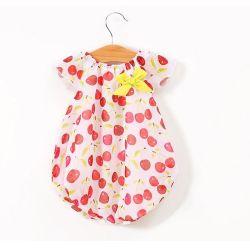 Recém-nascido Design Floral Verão Desgaste do bebé Girl Onesie vestuário para bebé vestuário infantil bebê bebê Pajama romper as crianças roupas