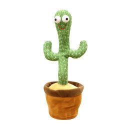 La vente directe d'usine joli cadeau personnel farci doux chant de la musique de danse pour enfants Cactus un jouet en peluche