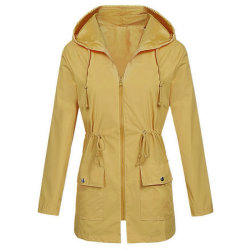 Plus Size Windproof impermeable impermeable con Capucha Zip de secado rápido ropa