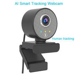 Besteye 360 Ai Smart Auto Tracking Webcam Sony Sensor Full HD 1080p Hochwertige PC-Kamera Computer-Teile Dual Noise Reduction Mikrofon Touch USB Web Camera
