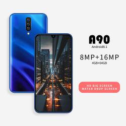 Venda por grosso Original Novo um90 Smart Phone 4GB / 64 GB de memória 3G Telemóvel 6,26 polegadas tela grande Celular