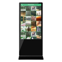 43 49 Kiosk van Wayfinding van het Scherm van de Aanraking van WiFi van het Netwerk van de Cabine van de Foto van de Vloer van 55 Duim de Bevindende Androïde 3G