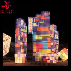 Moderner im Freien chinesischer Festival-Feiertags-Silk Laterne-Dekoration für Bildschirmanzeige