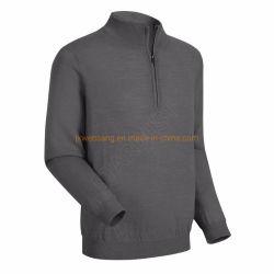 Australian Merino Golf Shirt Herren atmungsaktive Anti-Odor Merinowolle China Long Sleeve Half Zip Sweatshirt Aus China Hersteller