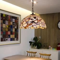Camera di illuminazione Pendant del lampadario a bracci di Tiffany per la decorazione domestica dell'interno (WH-TF-18)