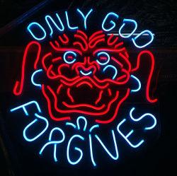 Janela Administração aberta em outdoors neon de assinar a luz de LED