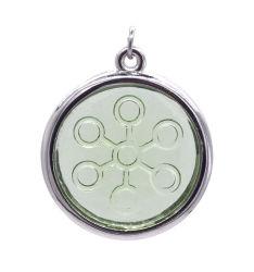 Cuidados de saúde Colar Energia Bio Pendente de energia quântica escalares de vidro com íons negativos, o logotipo do OEM