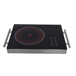 cuisinière induction cuisinière électrique prix d'usine simple brûleur LED 2200W Logo OEM bouton de table de cuisson appareil domestique