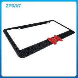 Accesorios para automóviles 2pcs Bling el bastidor de la matrícula con arco
