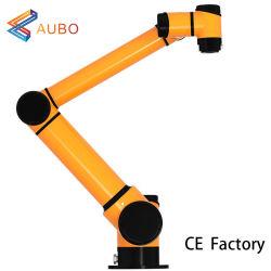 Aubo I10 6 Axis Robotic ARM 10 كجم الحمولة الصافية 1350 مم معالجة آلة لحام الروبوت برمجة الأسعار كوبو