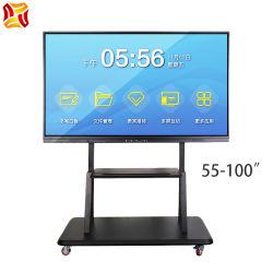 55-100 pulgadas todo en una pantalla táctil electrónica pizarra interactiva SMART Board Display LCD de pantalla plana de la Conferencia de la educación en el aula