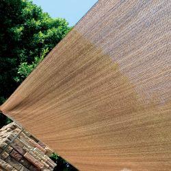 Couleur marron clair chiffon à l'ombre de l'ombre du rouleau de tissu résistant aux UV pour la protection solaire Net Home Voitures Tear-Resistant Courtyard net d'ombrage