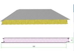Matériaux de construction insonorisées bardage métallique du panneau en laine de roche panneau sandwich de système pour la construction en acier de la Chambre Structual préfabriqué