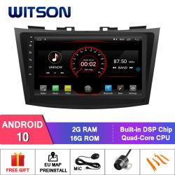 """Witson 9 """" 인조 인간 10 스즈끼 신속한 2013-2016년 차량 라디오를 위한 큰 스크린 차 DVD 플레이어 GPS"""