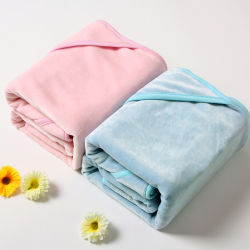 MOQ: 1PC, el bebé Manta Envolver con capucha de bambú/algodón tejido de terciopelo