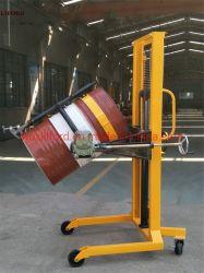 Tamburi oleosi in acciaio e plastica 450 Kg sollevatore idraulico a tamburo Impilatore