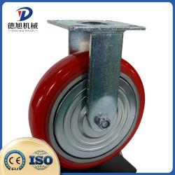 Ruota orientabile in PU ghisa per impieghi pesanti 3 4 5 6 8 ruota in poliuretano da 10 pollici, cuscinetto a rulli in acciaio