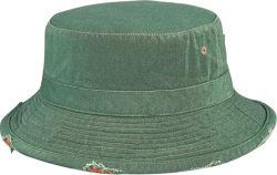 La moda lavado pesado cucharón de sarga con sombrero de ala rota