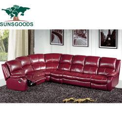 Высокая Quanlity Возлежащий диван-кровать &диван из натуральной кожи. 8-местный диван,